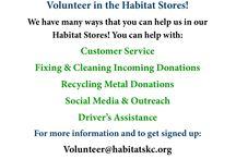 Volunteer in the Habitat Store! / Our Habitat Stores in King Country take volunteers in all kinds of fun roles. For more information: volunteer@habitatskc.org