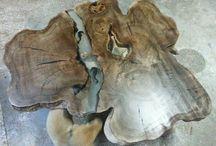 natural wood / Natural masa sehpa modelleri
