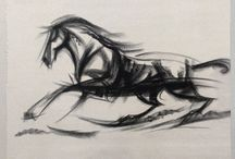 Sharp Motion / gestures/charcoal/speed/motion/trump/anxiety/lines/quantity