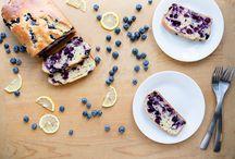 Blauwe bessen citroen yoghurt brood