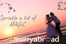 Sprinkle a bit of MAGiC....... / MAGiC is the Marry Abroad Gift Card - a way of asking your guests to help contribute towards your wedding day.  Ask us how it works  magic@marryabroad.co.uk