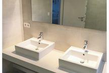 Salle de bain en micro mortier décoratif étanche