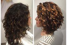capelli ricci colore