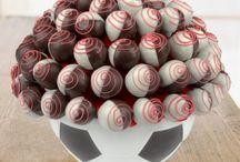 Truffle Çiçekleri / lezzetli truffle kek çiçekleri, fruits, flowers, tasty, delicious, cake, parkin, cookies