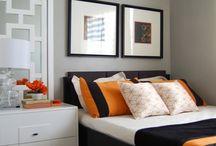 Orange / Shades of black, white, grey, and orange