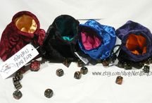 Dice Bags / Handmade dice bags for tabletop RPG players. Bags can also be used for a wide variety of other uses, but are primarily designed with the tabletop gamer in mind.