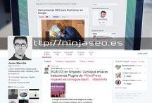 NinjaSEO - Javier Marcilla / Perfiles Sociales de Ninjaseo.es, sígueme para no perderte ninguna actualización. Comparto sólo la información más interesante y actual sobre Posicionamiento Web y Marketing