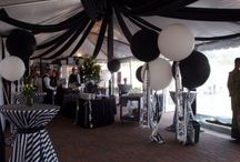 black and white vintage party