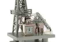 Oil Rig Clocks / Personalized Oil Rig Clocks, Offshore OIl Rig Gifts and Oil & Gas themed clocks to promote your refinery, business, event, or organization. Oil themed oil rig awards, oil drop gifts & offshore oil rig promotional products delivered in time for your next big event! http://www.lucitetombstones.com/lucite_oil_gas_energy_clocks.htm / by Lucite Deal Toys & Embedments