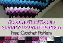 Around the world crochet blanket