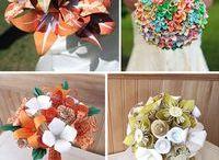 bolas com flores de isopor