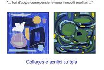 """""""NINFEE, I FIORI D'ACQUA"""" / Mostra personale, 17 - 31 agosto 2016, Spazio espositivo di Via della Cervia, 19 Lucca #andreamattiello #waterflower #waterlilies #ninfea #collage #contemporaryart #lucca"""