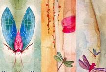 acuarelas / flores.pajaritos