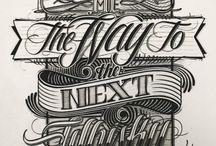 Typography / Div fonter, design, scripts