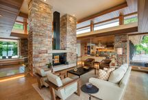 Fireplace Inspirations / Beautiful fireplaces featuring, brick and stone!