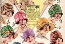 1920s fashion advertisements / vintage fashion advertisements from the 1920s about clothing, accessories, shoes, cosmetics, or jewelry • magazine illustrations  • catalogs