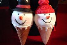 Gourmandises de Noël / Déco de Noël en porcelaine froide ou fimo