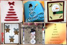 Tarjetas de Navidad / Súper colección de Imágenes con diferentes ideas Tarjetas de Navidad