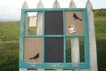 Ideas: Old Window Frames / by Kerryn Currie