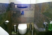 Toilet Peacock Tile