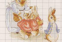 Bunnies Easter Cross Stitch