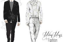 Fashion illustrations / Floyd Grey ,Cecilia Lundgren ,Grance Dore ,Davind Downton