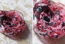 kwiaty z materiału