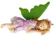 """Fairies, Good Luck Charms,  Disney / For the Sleep Fairy that sprinkles """"magic sleep dust"""" on my youngest daughter. Good luck & peace charms for my oldest,  Disney characters for all 3 of us."""