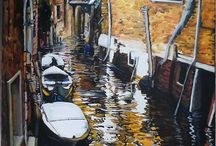 Venice and Beyond / I paint realistic or surrealistic paintings in Impressionistic style.