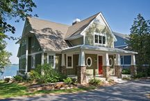 Craftsman and Cottages / Craftman Style and Cottages. These are what I would build for a mountain or lake retreat.