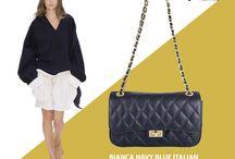 Marla Fiji Bianca Red quilted Italian leather handbag