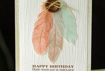 fine feathers stampin up