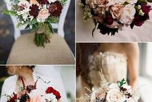 Burgundy wedding colour theme / flowers / Burgundy wedding colour, Burgundy florals, burgundy bridal bouquets, Autumn wedding flower colours, plum and sage, burgundy and blush, Burgundy wedding colour ideas