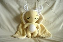 Jackalopes / Handmade jackalope plushies, purchasable from Nerd Bird Craftings on Etsy