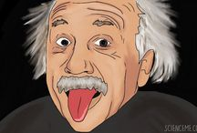Famous Scientists / Illustrated portraits of prominent scientists.