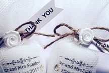 Rustic shabby chic wedding favours