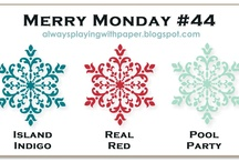 Merry Monday Challenges for Christmas / One challenge every week, one Christmas card made every week ~ all year long!  Be ready to go in December.
