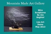 Wire Bonsai by Jim Beghtol / Unique hand wound wire bonsai sculptures