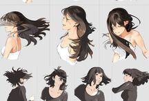 髪の毛 描き方