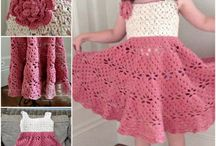 crochet baby girl and preschool