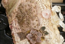 """""""Fabric&Lace  Books&Collage"""" / by Angie Gunson"""