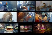 Color Script, Color Key & Keylight references for visual development