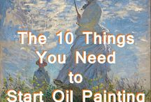 Oil Painting / Information about basics of oil painting and must have equipment and color sets