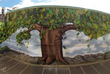 MURAL ART / mural art, street art, graffiti art, custom graffiti, tree paintng, walldesign, custom painting