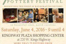 Piedmont Pottery Festival / 14th Annual Piedmont Pottery Festival - Eden, NC 2016