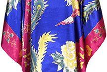 robe de chambre imprimé asiatique / robe d'intérieur imprimé chinois et japonais