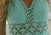 dress with crochet top