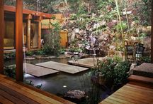ASIAN GARDEN-OUTDOORS INDOOR / Asian Garden Plans for Outdoors Brought Indoor as Traditional  / by Mark Savage