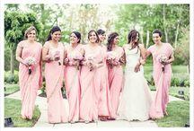 Indian wedding Bridal Party / Saris are the major popular bridesmaid dress but enjoy photos of anarkalis, chudidars, and lehengas. Grooms Kiera's and dupattas to match the bridesmaids inspiration.