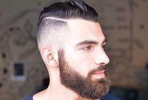 Pompadour hipster haircut